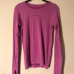 Lululemon pink workout top